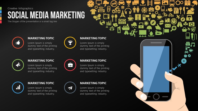 Social Media Marketing Free PowerPoint Template