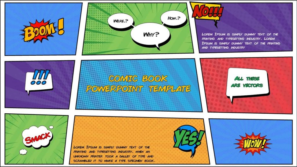 Comic PowerPoint Templates