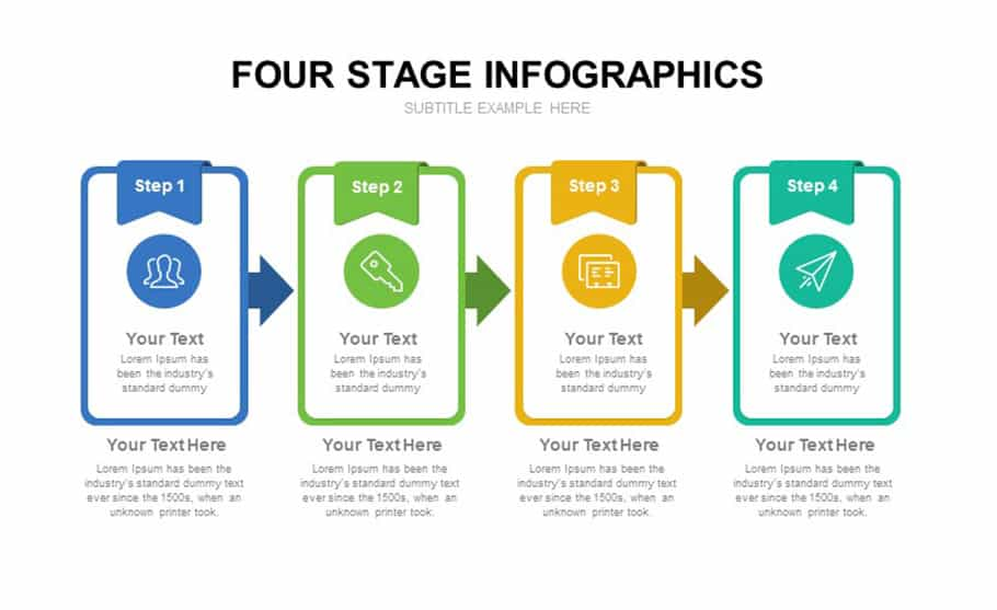 Four Stage Infographics templates