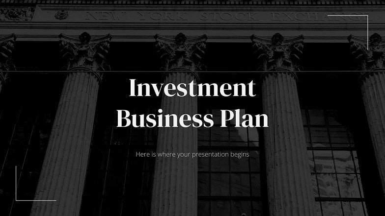 investment presentation template