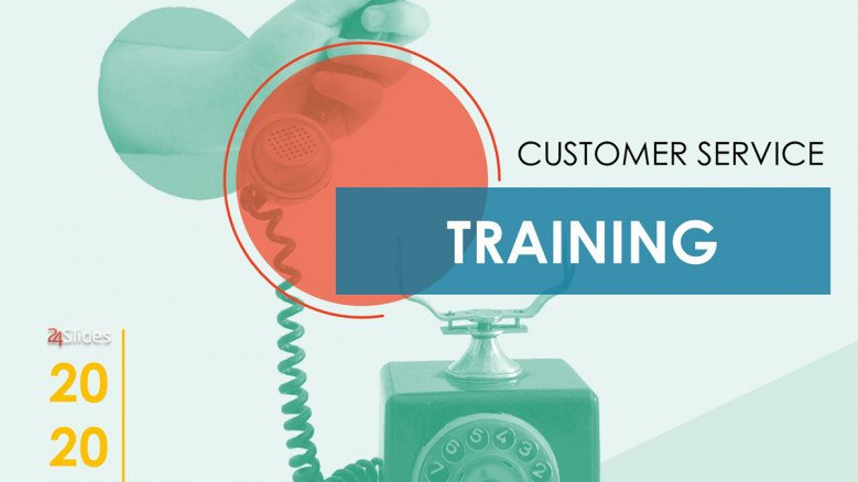 Free customer service training PowerPoint template
