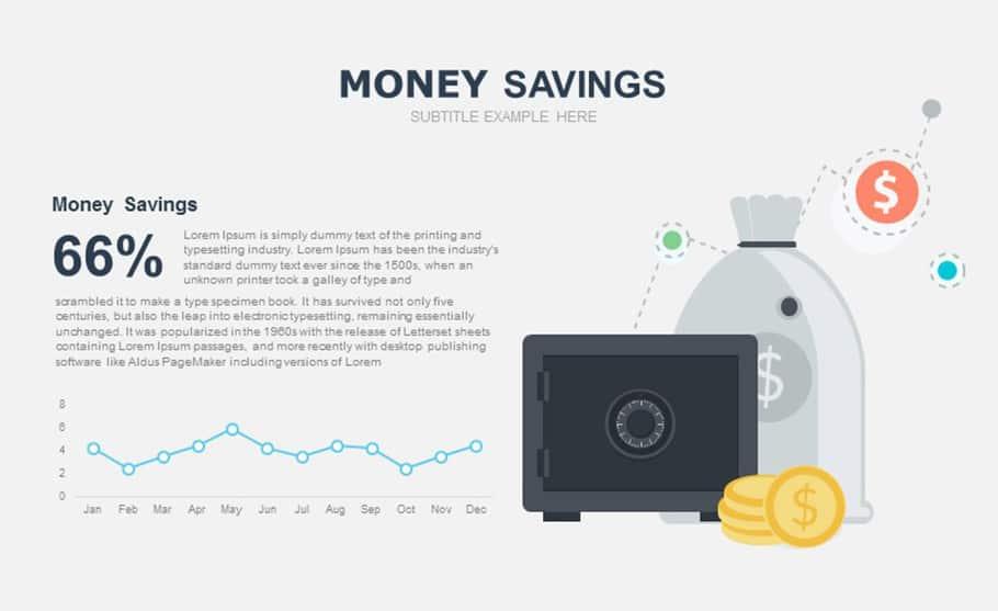 free money saving PowerPoint template