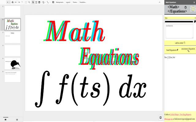 math equations Google add-ons