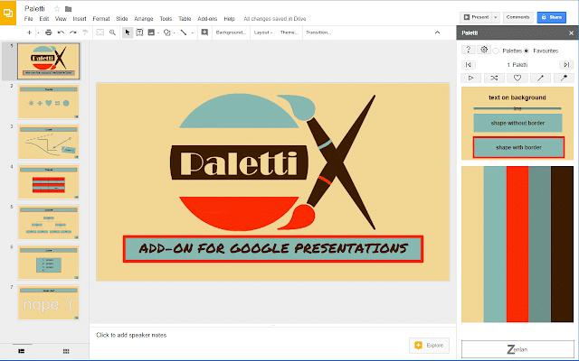 Paletti Google Add-On