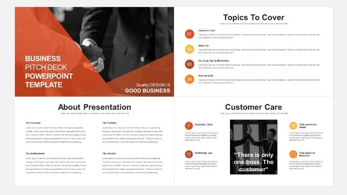 project management presentation idea template