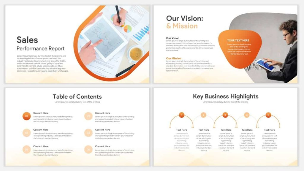 sales report template for PowerPoint