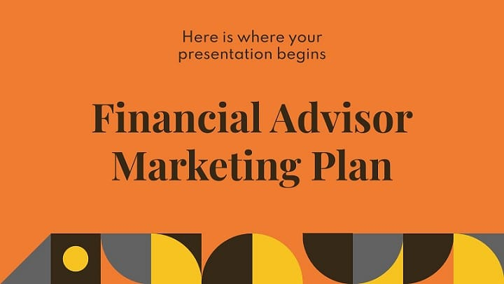 financial advisor marketing plan