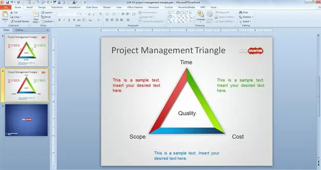 free project management presentation template