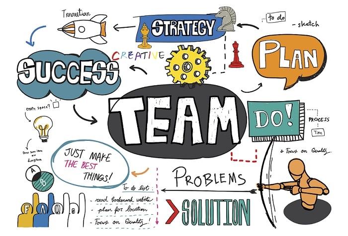 teamwork and collaboration PowerPoint template