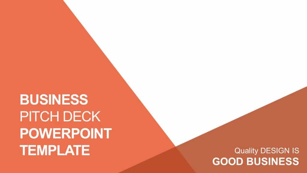 free business pitch deck PowerPoint template