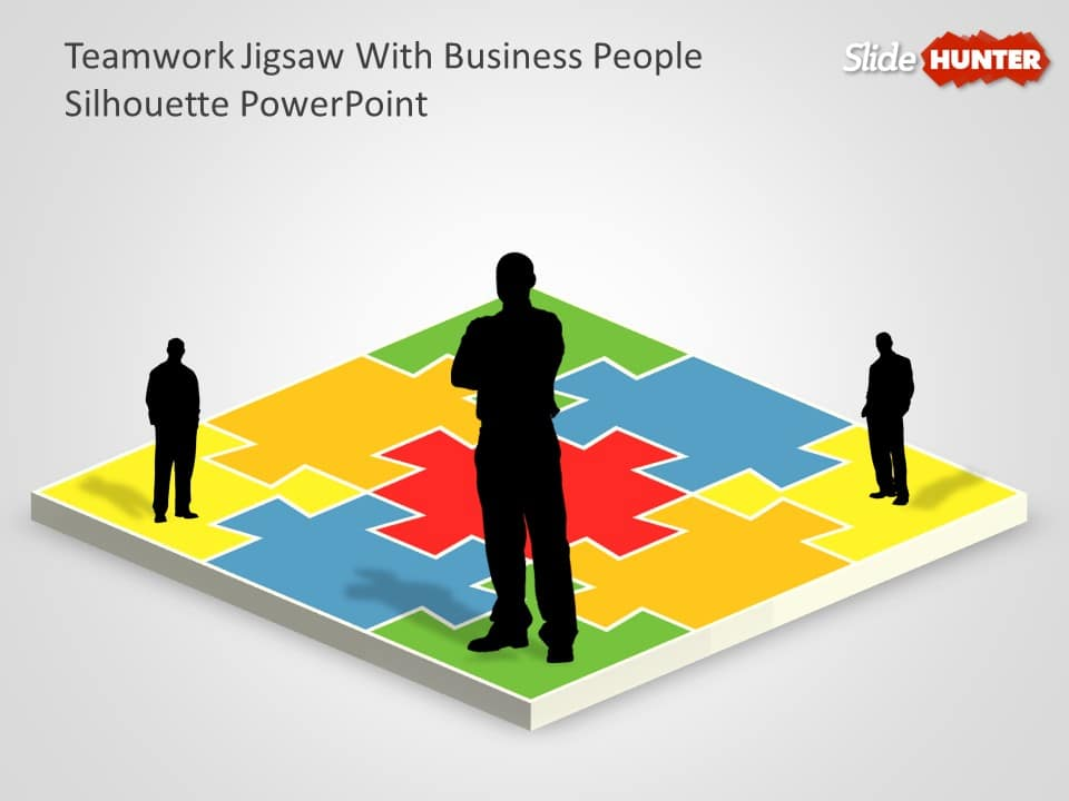 free team building jigshaw puzzle diagram template
