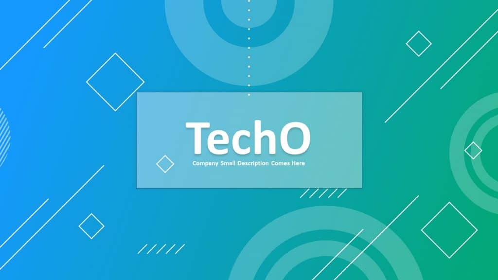 TechO free pitch deck PowerPoint Template