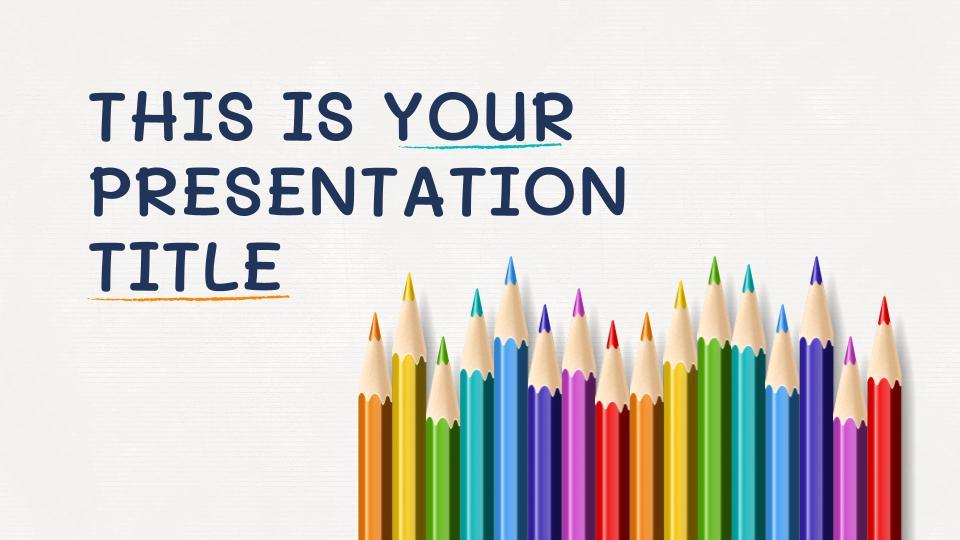 colorful pencils free google slides themes