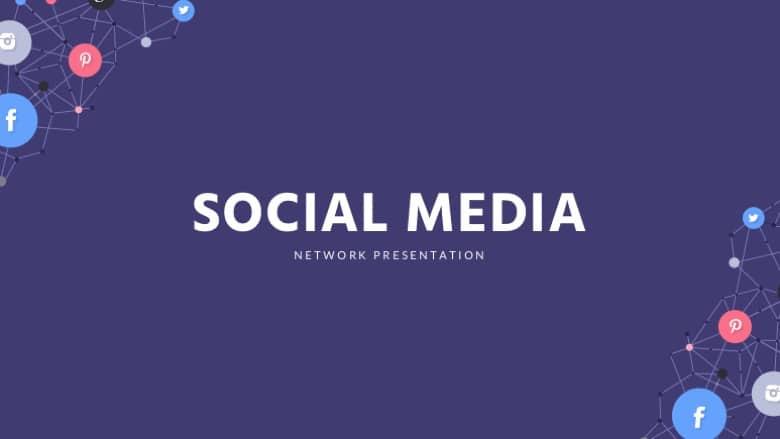 Free social media Google slides thees