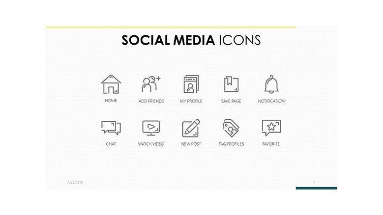 Google slides social media icons