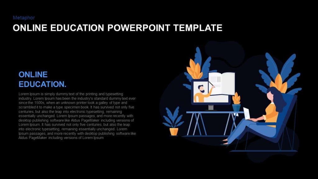 Online education PowerPoint template