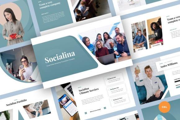 social media marketing google slides