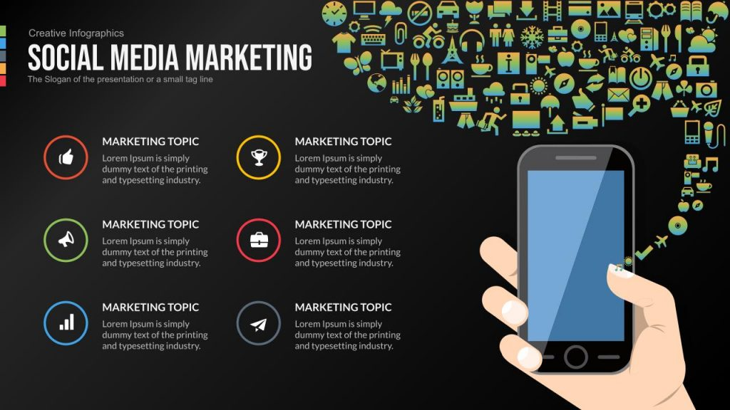 social media marketing Google slides themes