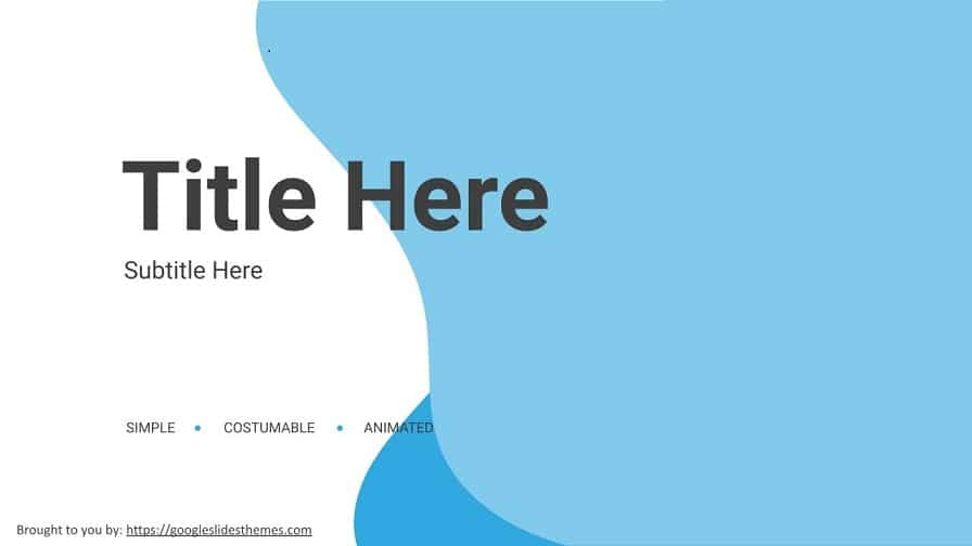 social media creative Google slides themes