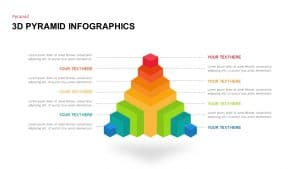Free 3D Pyramid Infographics PowerPoint Template