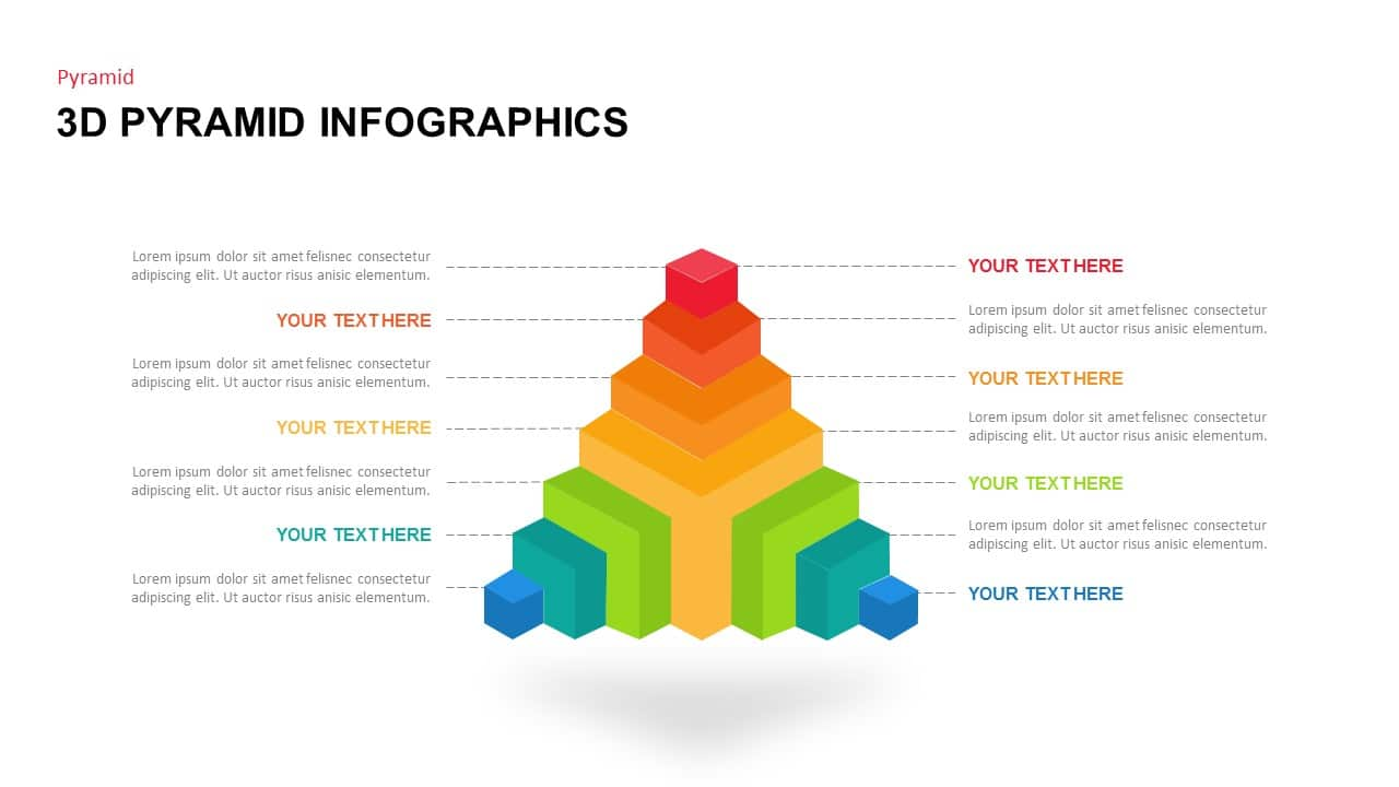 Free 3D Pyramid Infographics Template