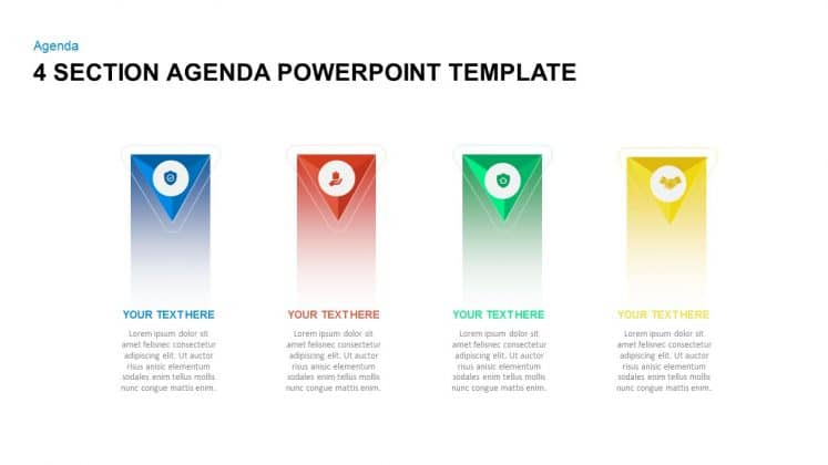4 section free agenda PowerPoint templates