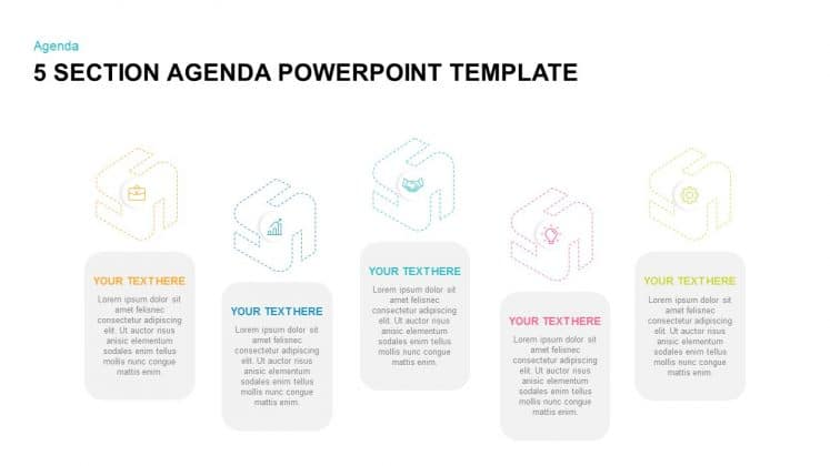 Free PowerPoint agenda slide template