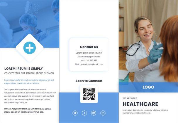 Free medical brochure Google slides