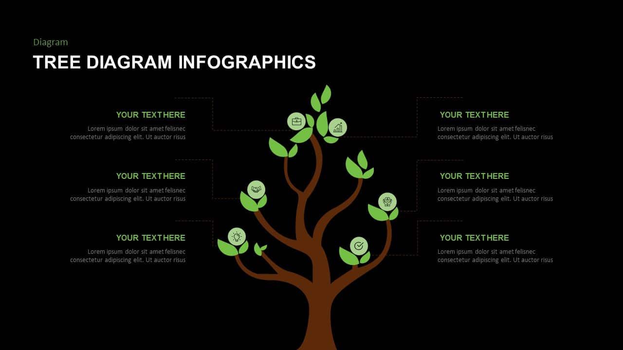 Free dark tree PowerPoint template