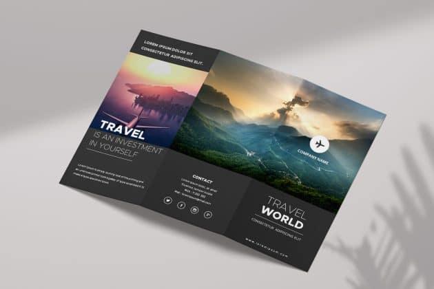 Free travel brochure google slides templates