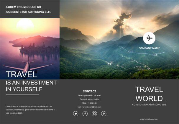 travel brochure google slides