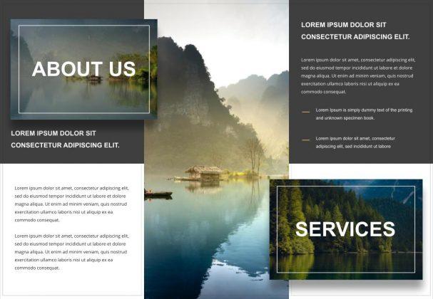 Free Tri-Fold travel brochure templates