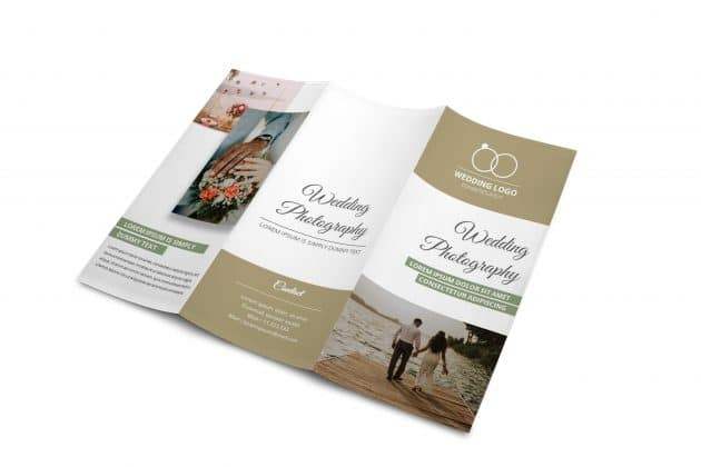 Free tri-fold wedding brochure templates