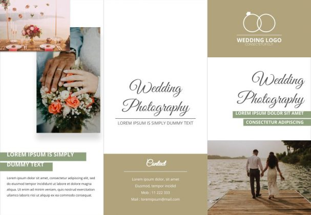 Free wedding brochure template