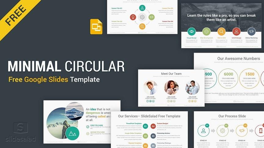 Circular free professional Google slides