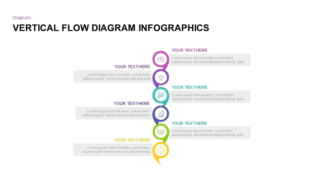 Free PowerPoint Vertical Flow Diagram