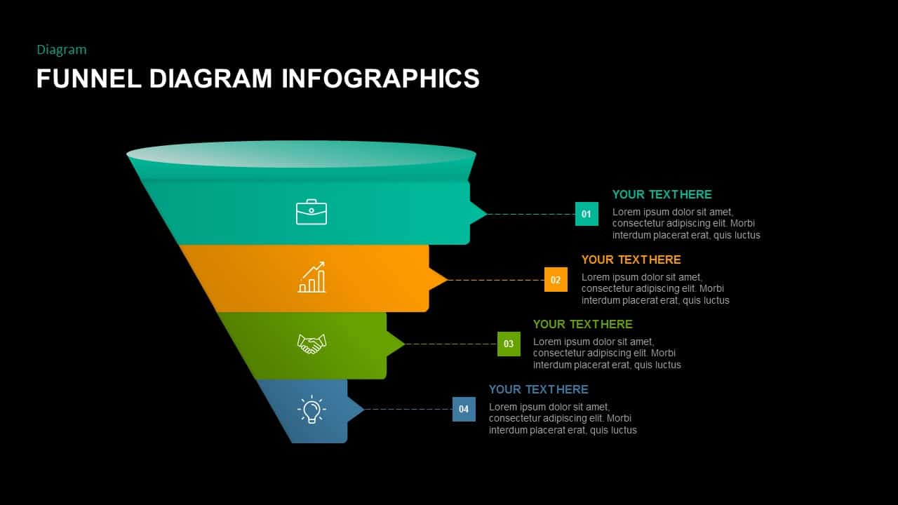 free dark PowerPoint funnel diagram template