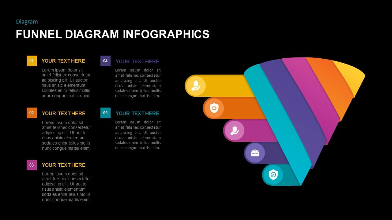Free dark funnel infographic template