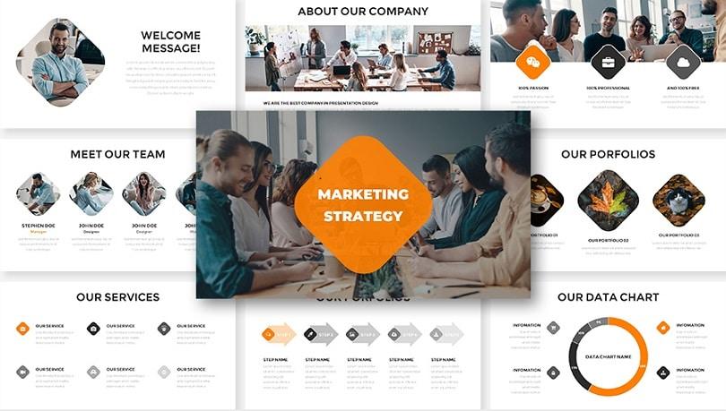marketing strategy free Google slides templates