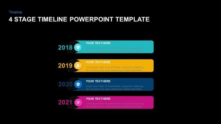 Free dark timeline PowerPoint templates