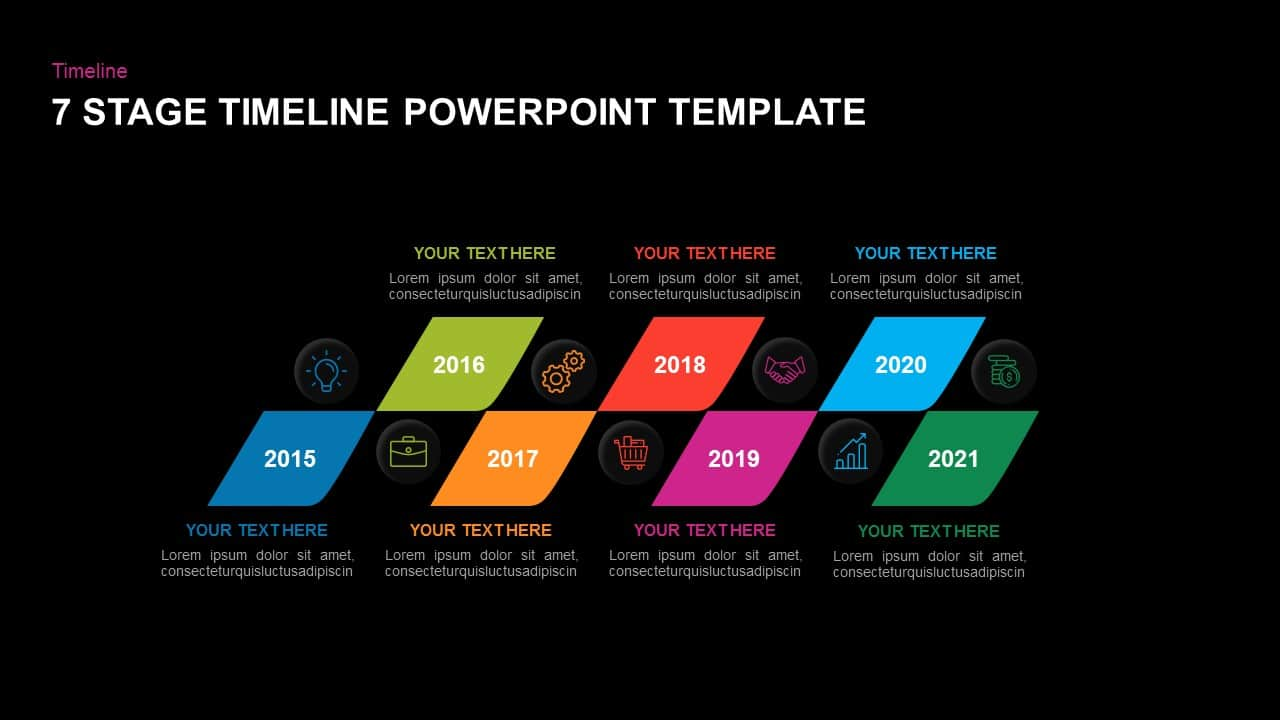 Free dark timeline templates for PowerPoint
