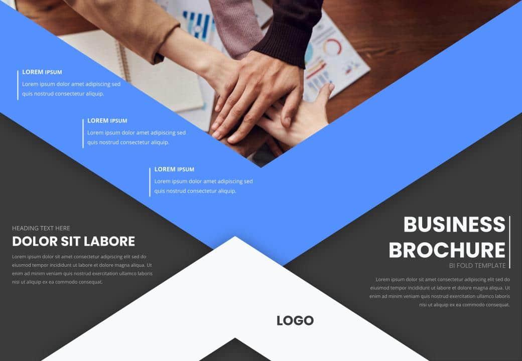 free bi-fold brochure PowerPoint Templates