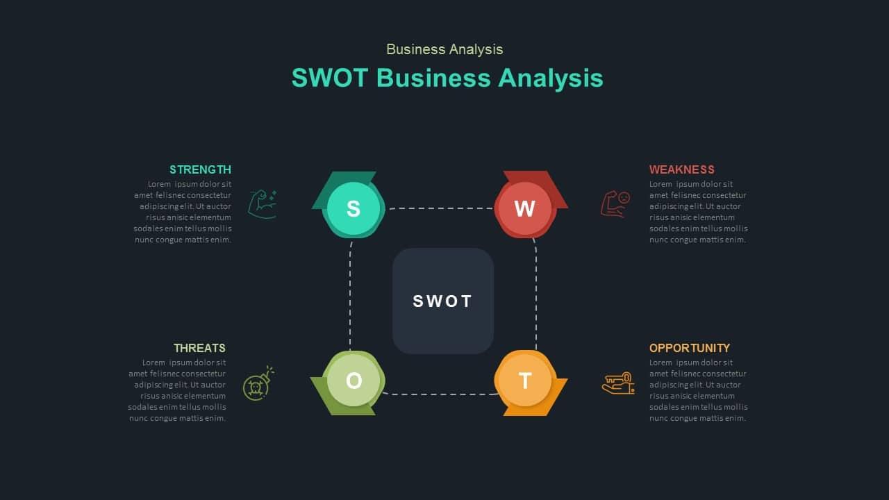 dark free business swot analysis template