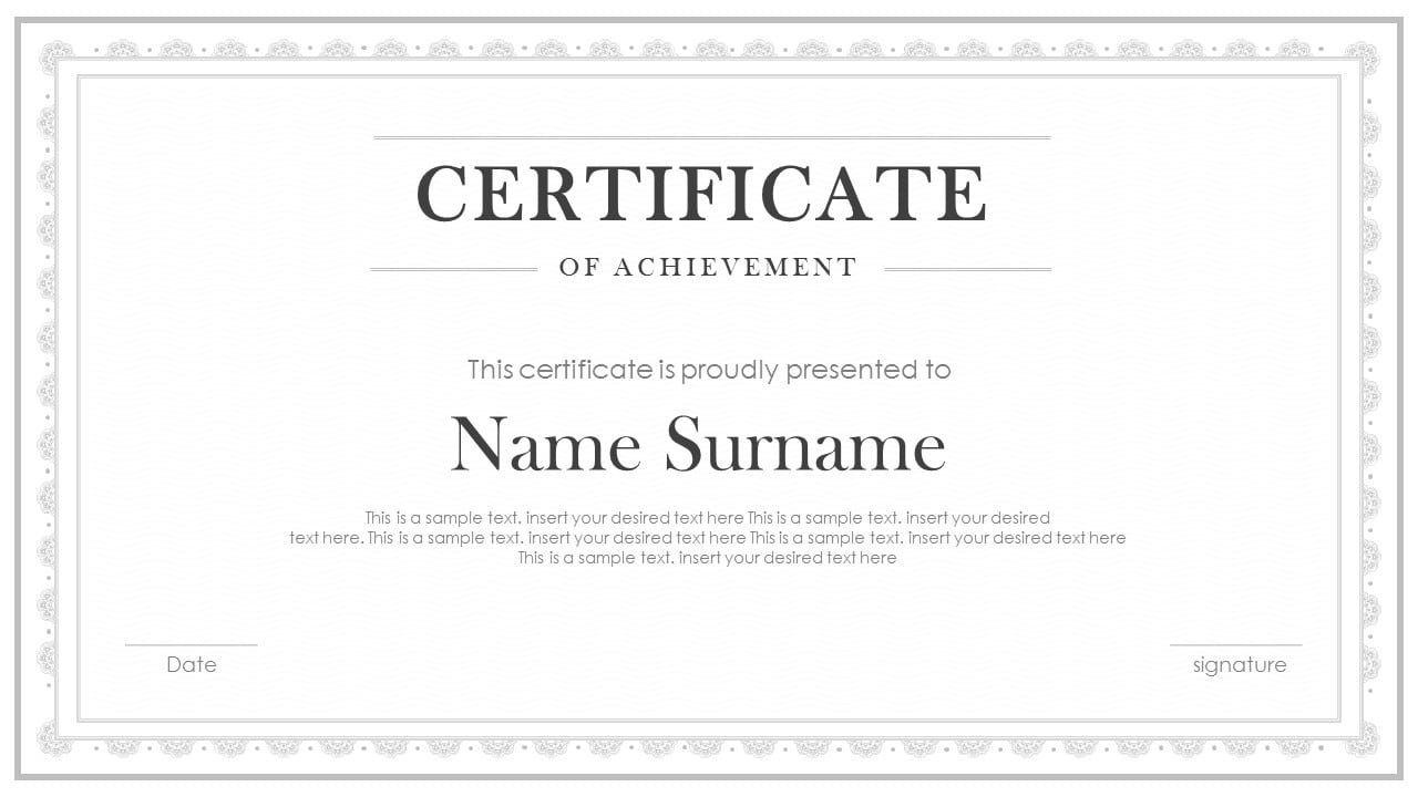 free certificate templates for Google Slides and PowerPoint