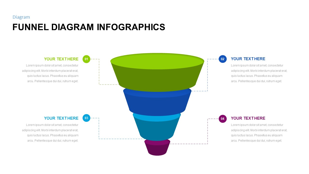 free creative funnel diagram Google slides template