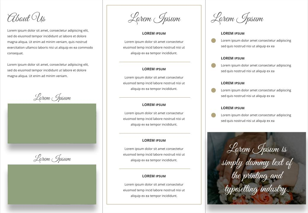 Free trifold wedding brochure powerpoint templates