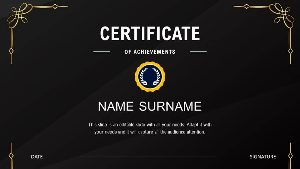 Best free certificate of appreciation PowerPoint template