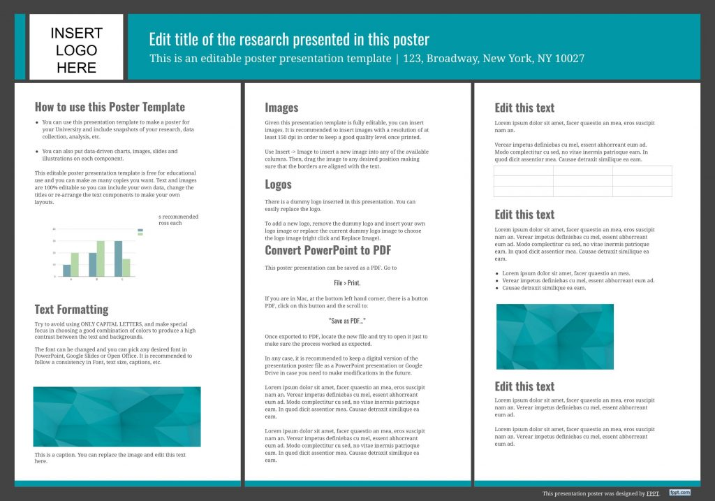 free scientific research Google slides Poster templates