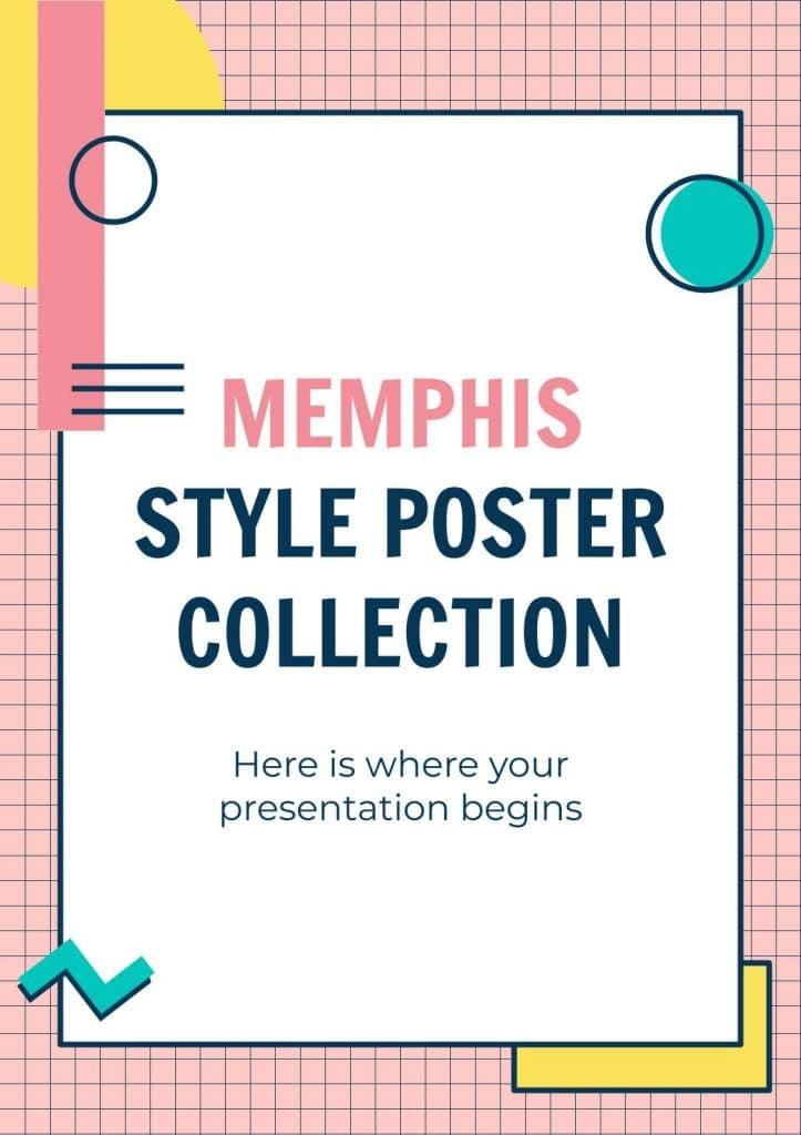Memphis Style Free Google Slide Poster Template