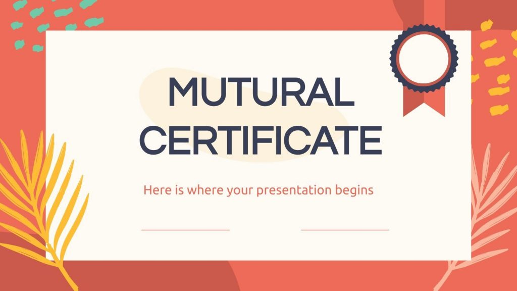 Free certificate template for Google